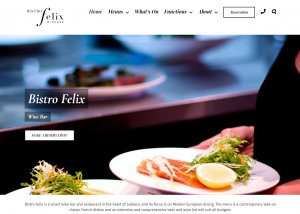 The home page of Bistro Felix Subiaco's website built by Killer Websites, local perth webdesign company
