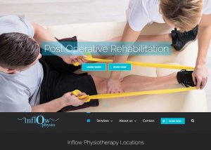 The front page of the website Inflow Physiotherapy that was designed and built by Killer Websites