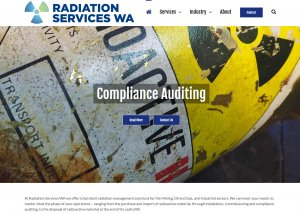 The Home Page of Radiation Safety Services WA, as designed, hosted and secured by Killer Websites
