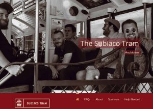The home page of the subiaco tram website as designed by killer websites